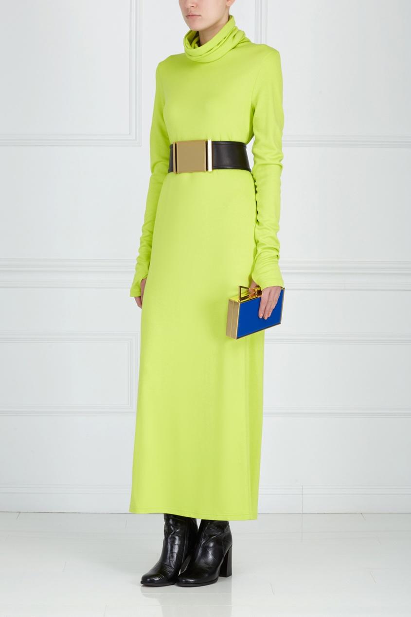 Однотонное платье ARnouveau. Цвет: салатовый
