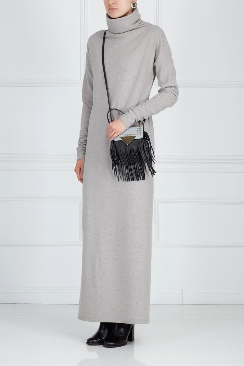Шерстяное платье ARnouveau. Цвет: серый
