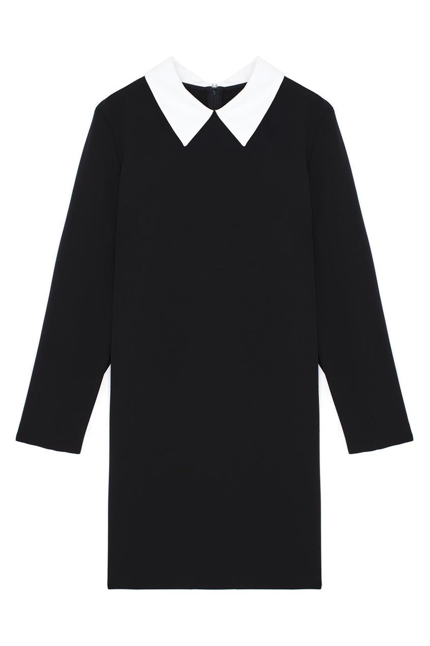 Прямое платье ARnouveau. Цвет: черный, белый