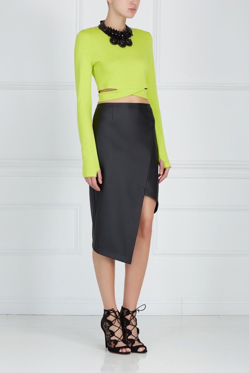Асимметричная юбка ARnouveau. Цвет: черный