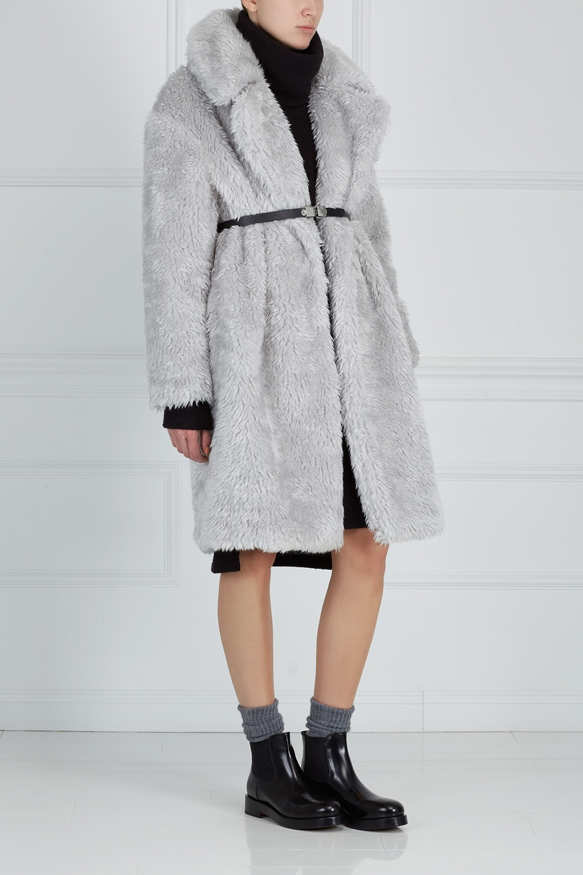 Шерстяное платье ARnouveau. Цвет: черный