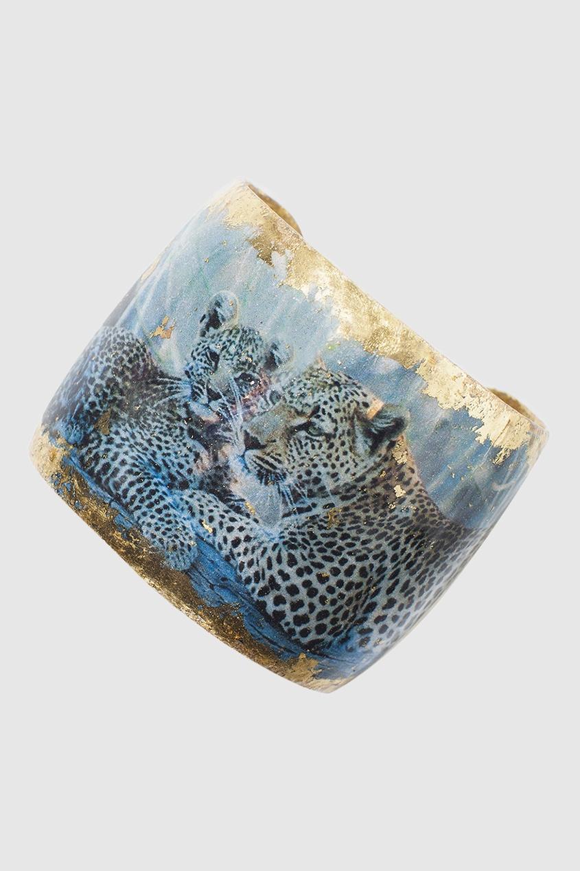 Браслет из латуни и кристаллов