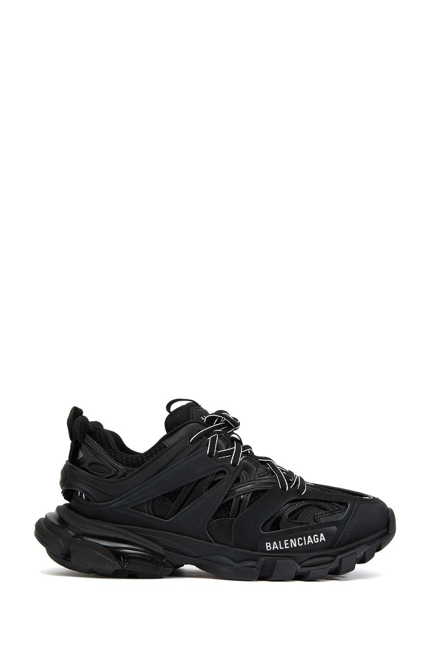 Черные комбинированные кроссовки Balenciaga Black 397201165