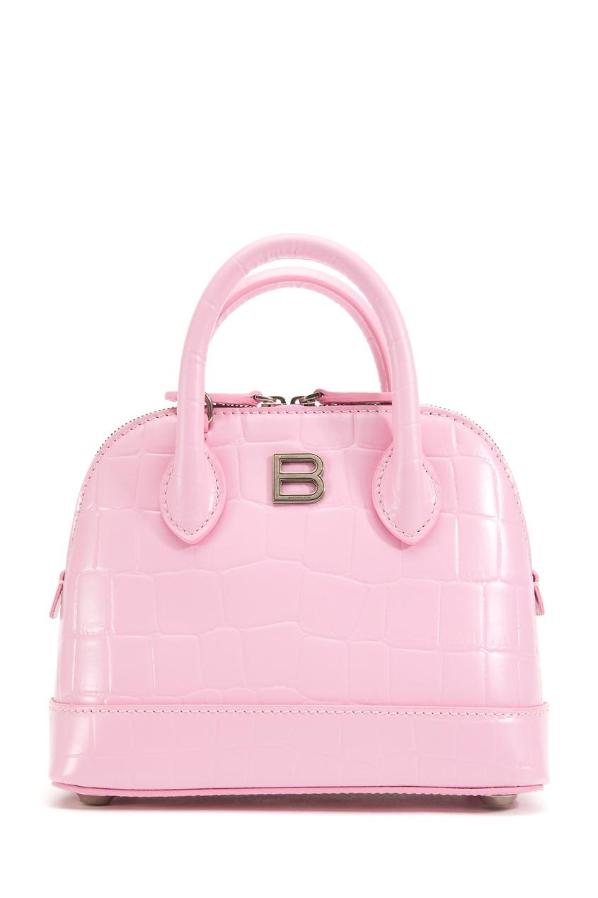 Розовая кожаная сумка Ville XXS