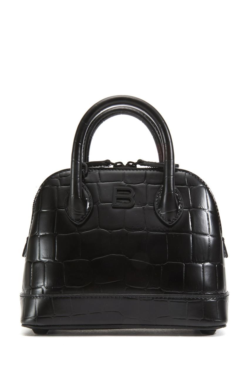Черная кожаная сумка Ville XXS