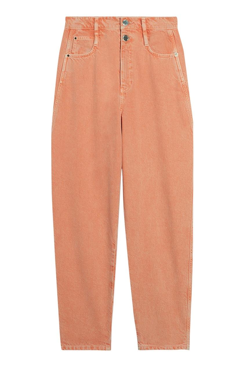 Прямые оранжевые джинсы