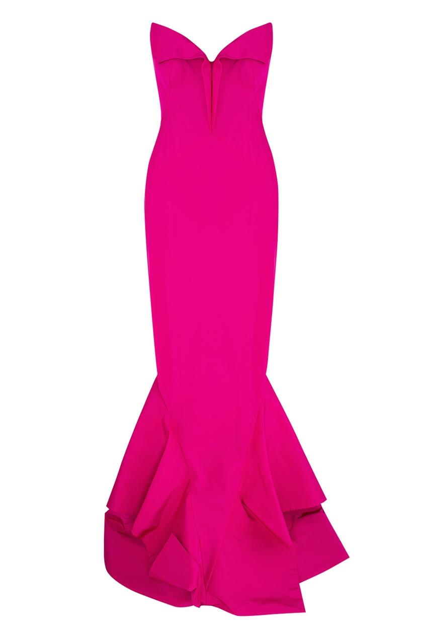 Шелковое платье-бюстье от Zac Posen