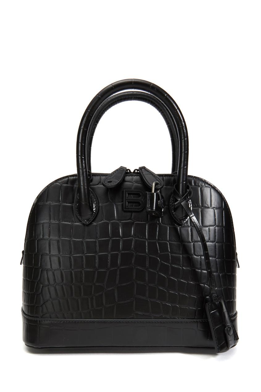 Черная кожаная сумка Ville Rivet Small