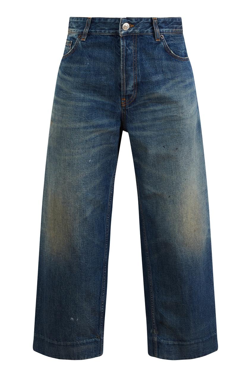 Прямые укороченные джинсы