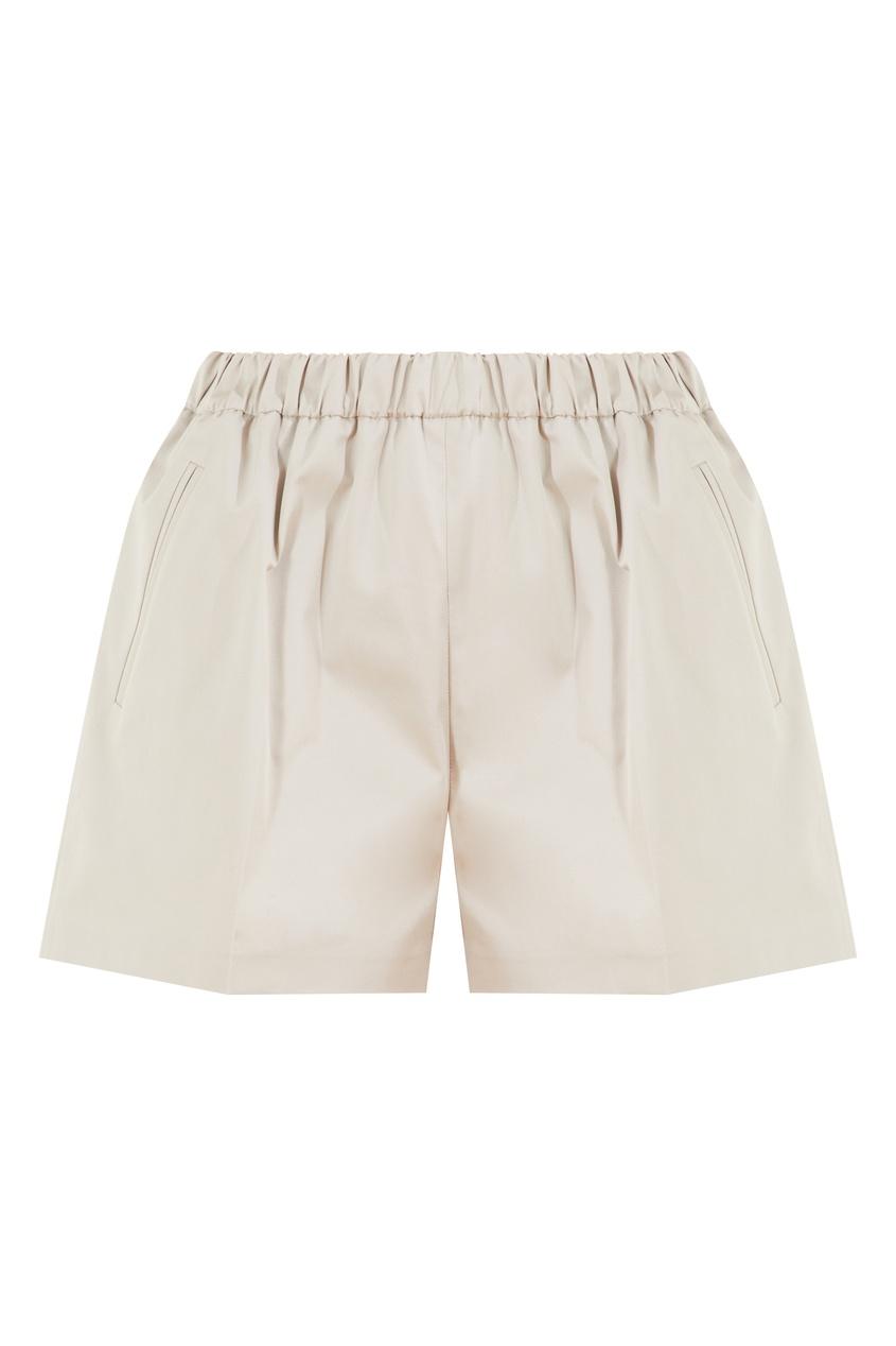 Серые хлопковые шорты Magda Butrym серого цвета