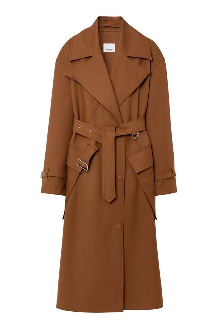 Коричневое шерстяное пальто