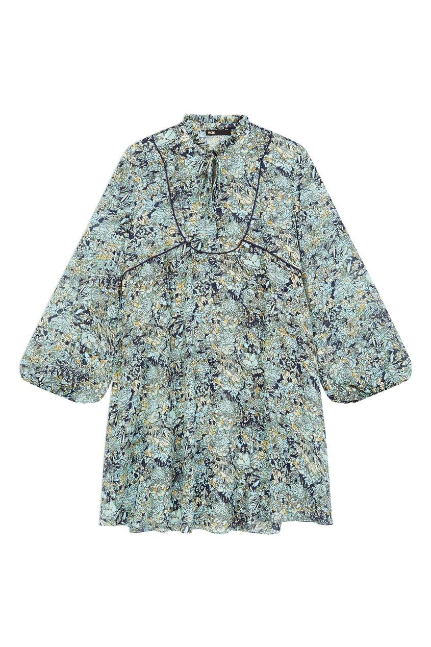 Платье оверсайз с цветочным принтом