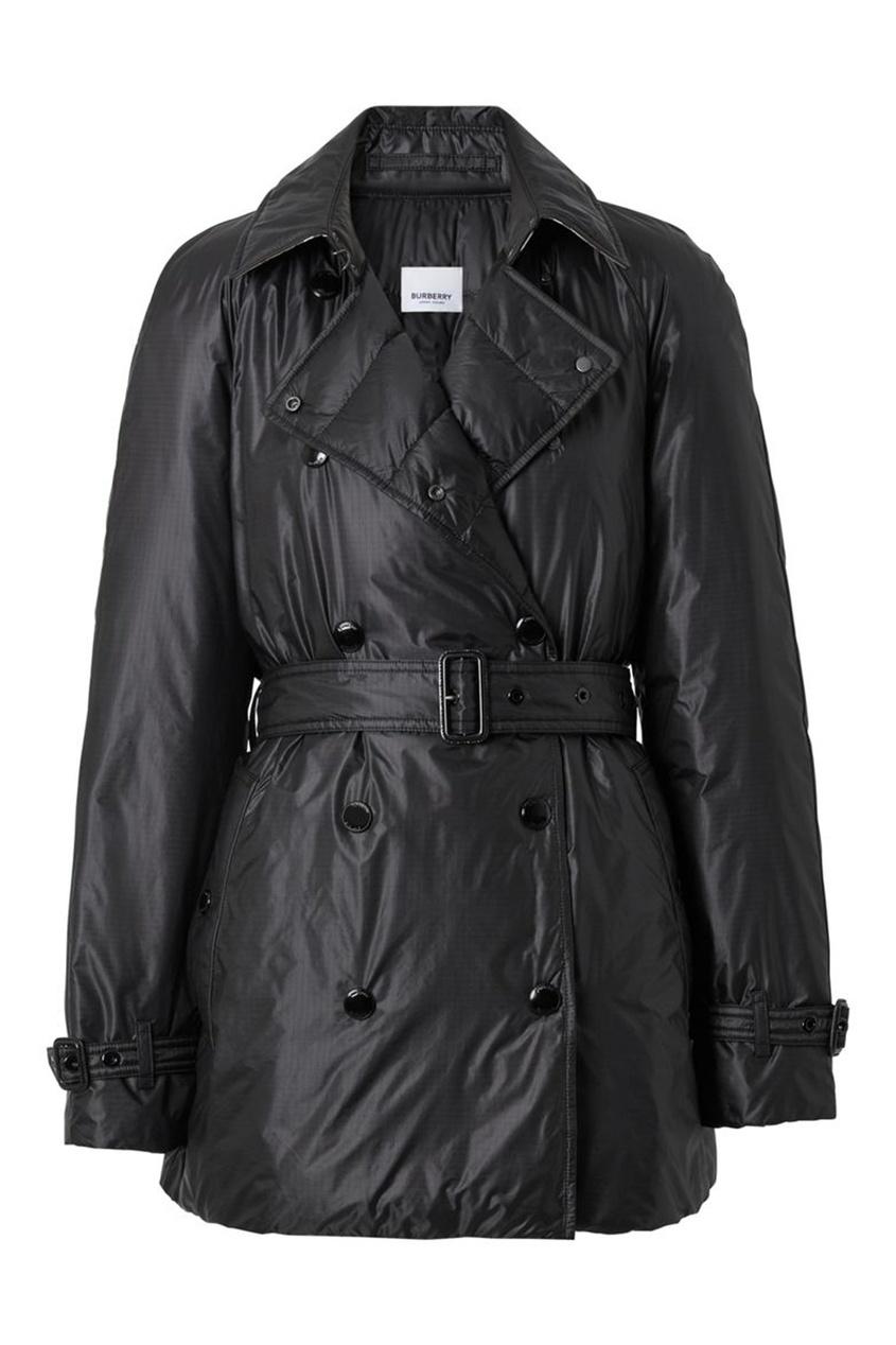 Черная куртка-плащ