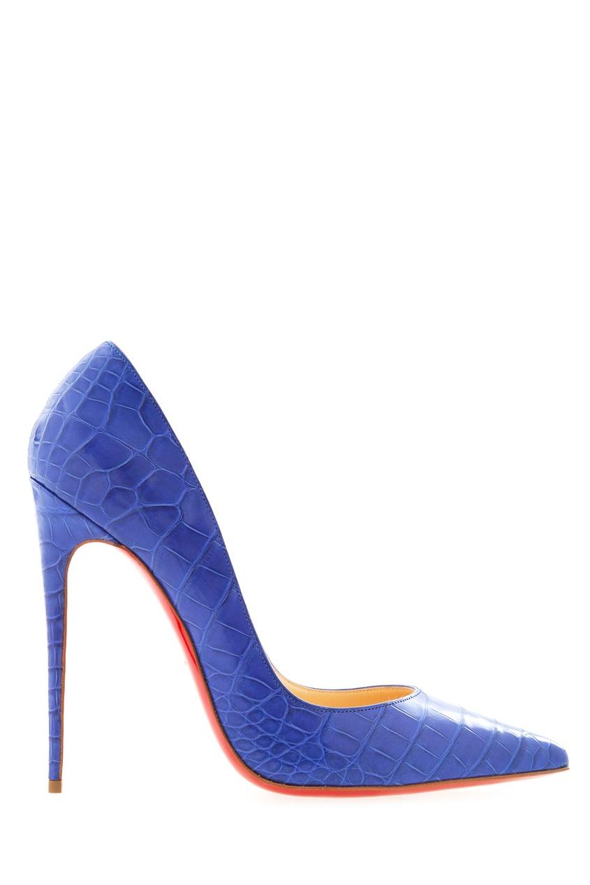 Туфли из кожи крокодила So Kate 120 Christian Louboutin