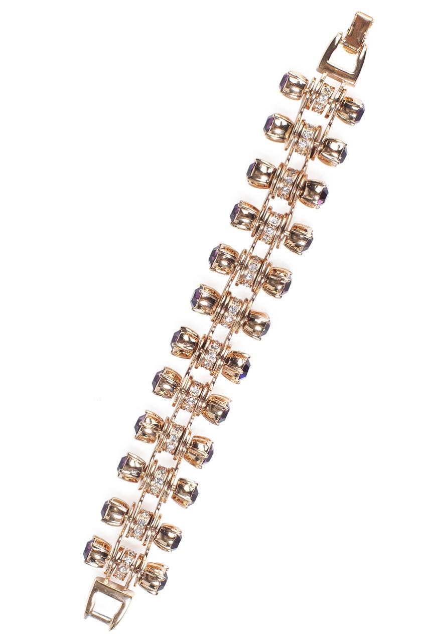 Металлический браслет с кристаллами