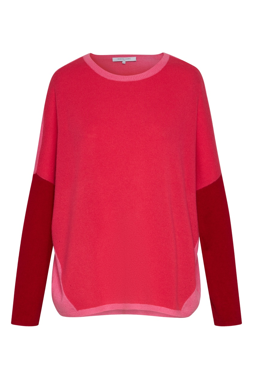 Красно-розовый джемпер из кашемира Lucie