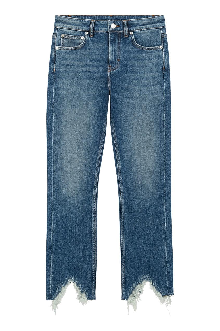 Укороченные джинсы с необработанным краем