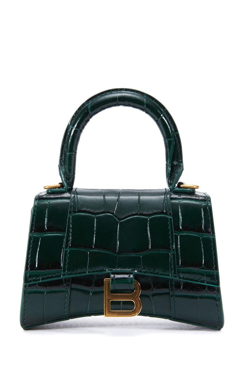 Темно-зеленая сумка Hourglass Mini
