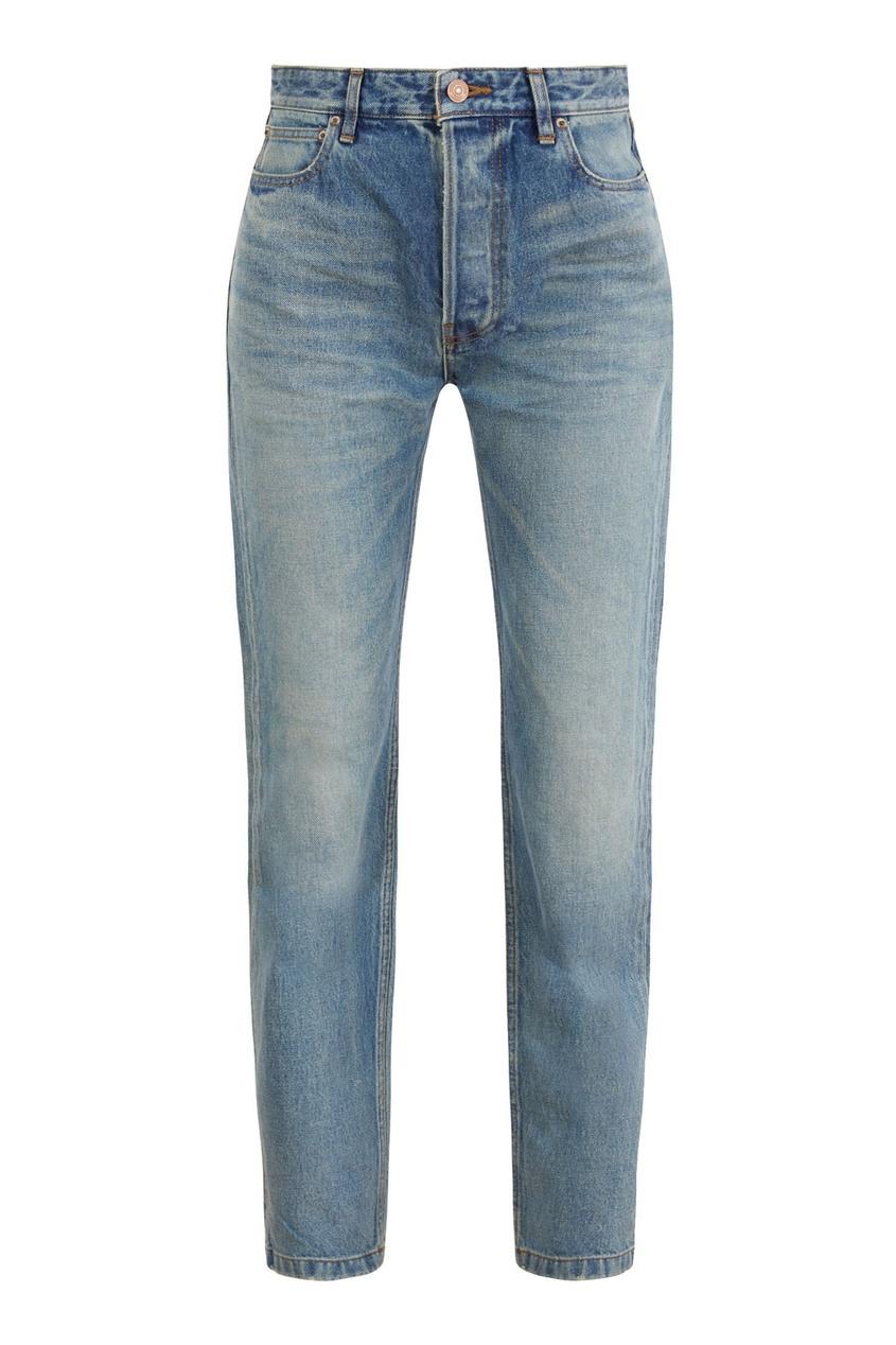 Темно-голубые джинсы