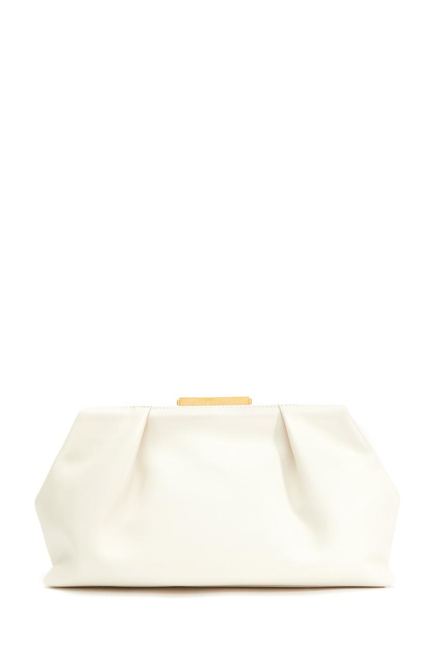 Белый кожаный клатч The Florence