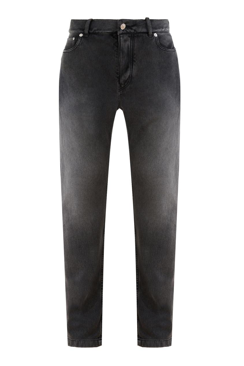 Черные джинсы на кнопках