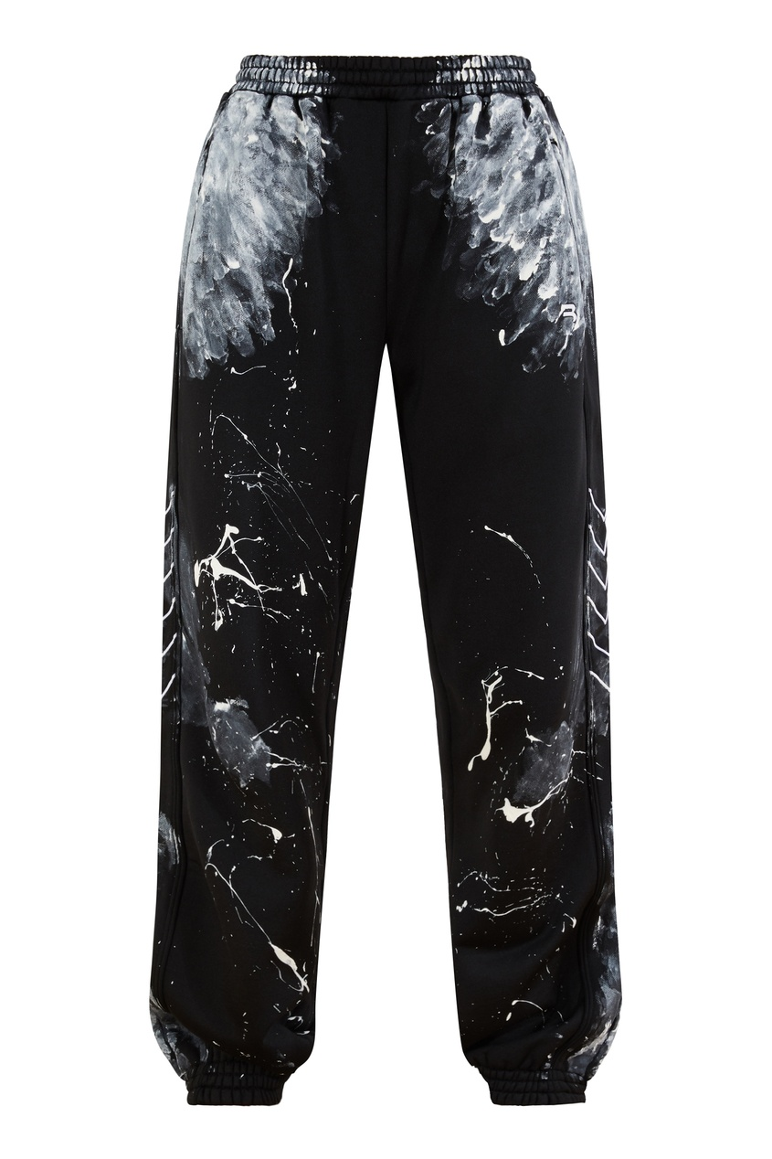 Черные джинсы с принтом