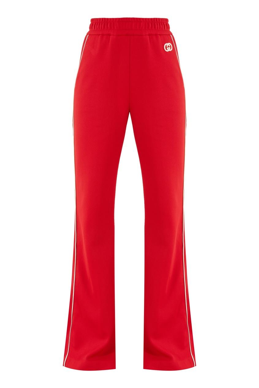 Красные брюки из джерси Gucci красного цвета