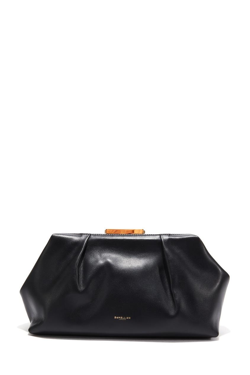 Черный кожаный клатч The Florence
