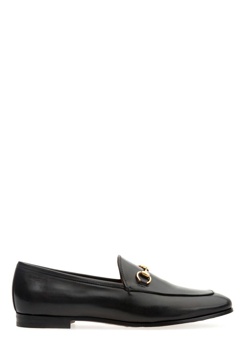 Купить Кожаные лоферы от Gucci черного цвета