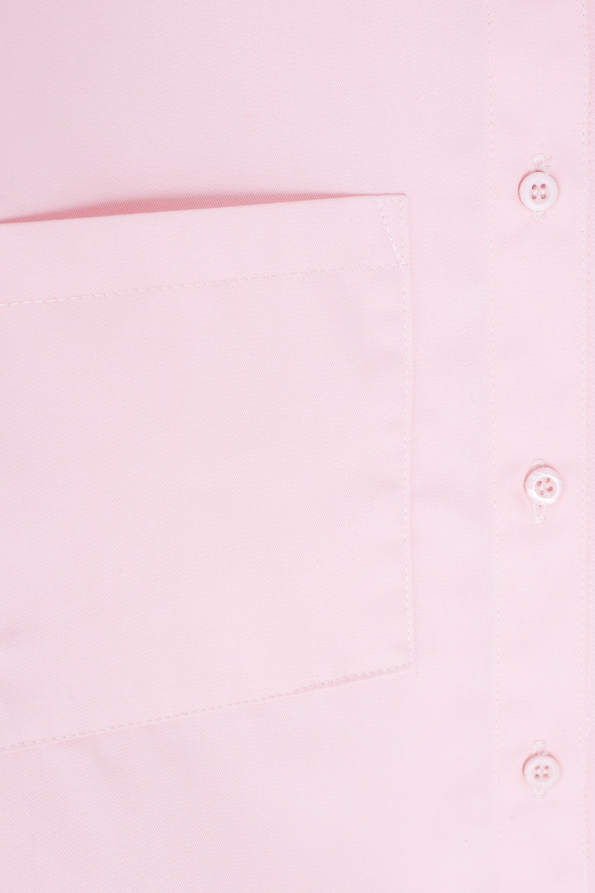 Фото 2 - Однотонная рубашка от ZDDZ розового цвета