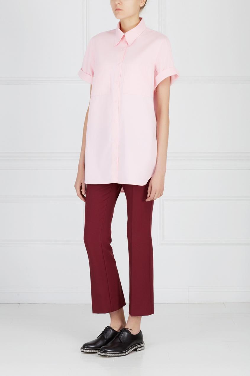 Фото 3 - Однотонная рубашка от ZDDZ розового цвета
