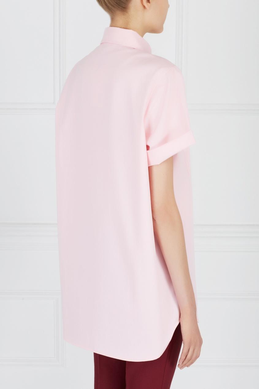 Фото 5 - Однотонная рубашка от ZDDZ розового цвета
