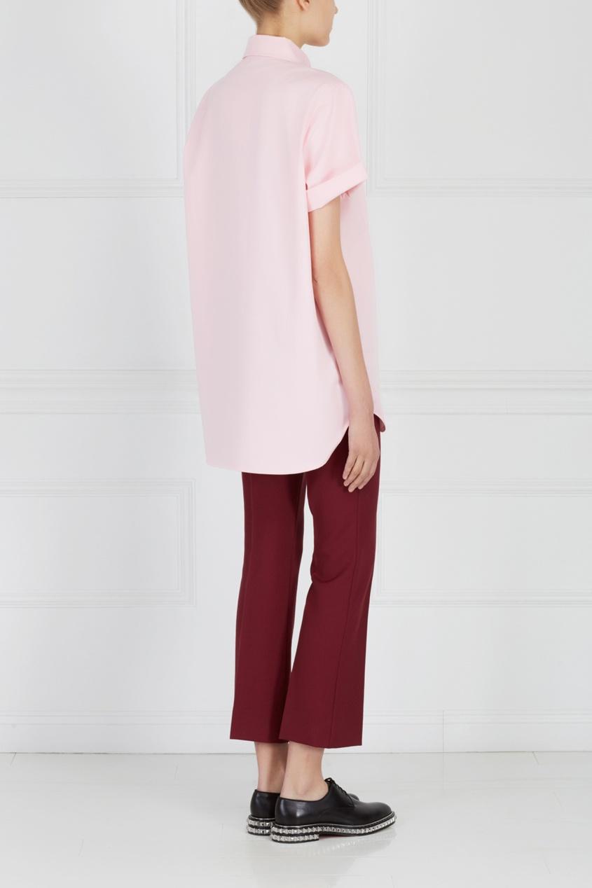 Фото 6 - Однотонная рубашка от ZDDZ розового цвета