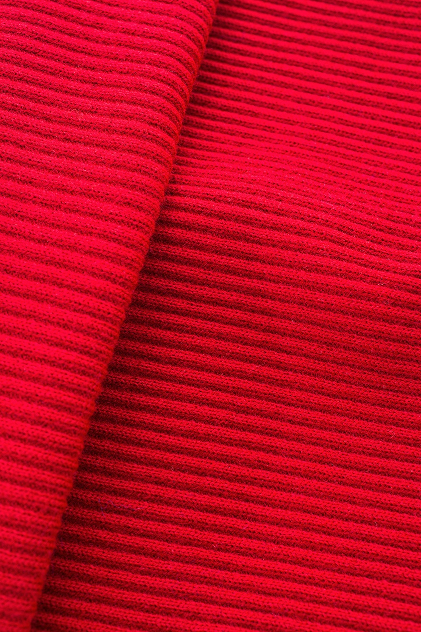 Фото 2 - Шерстяной комплект красного цвета
