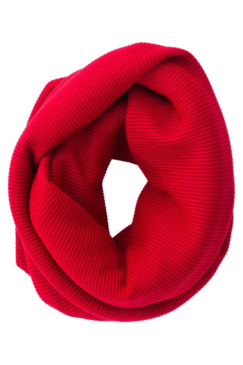 Фото 3 - Шерстяной комплект красного цвета