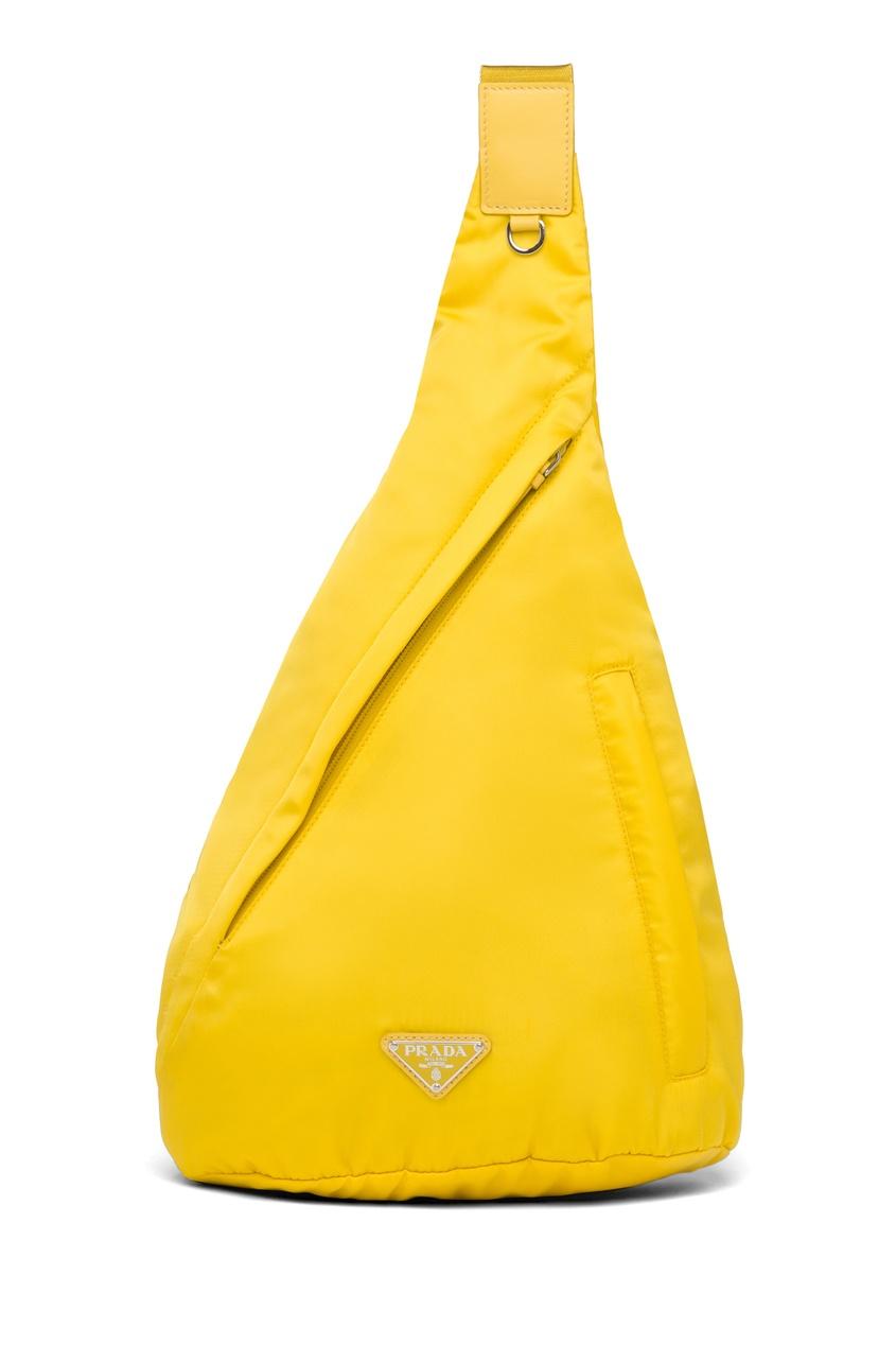 Желтый рюкзак на одно плечо