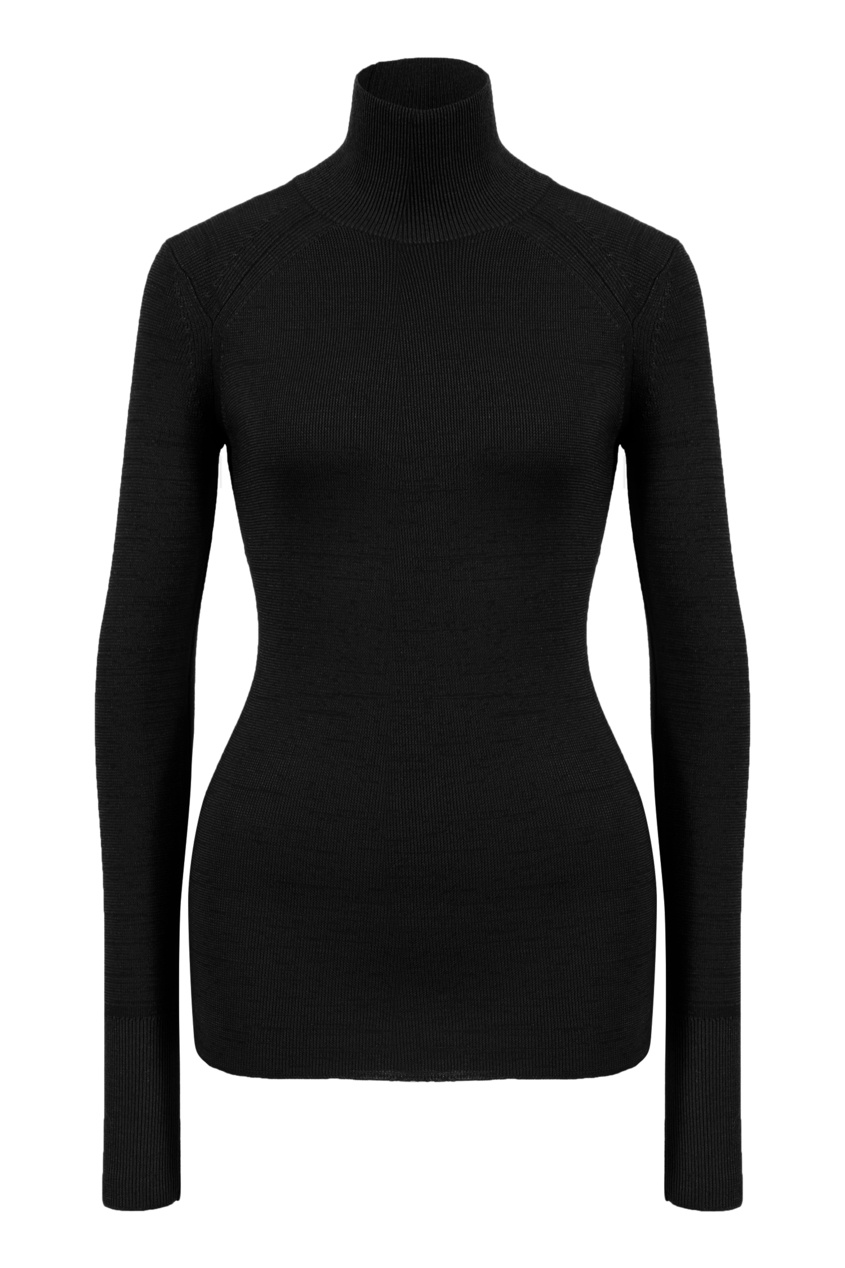 Водолазка из шерсти черного цвета