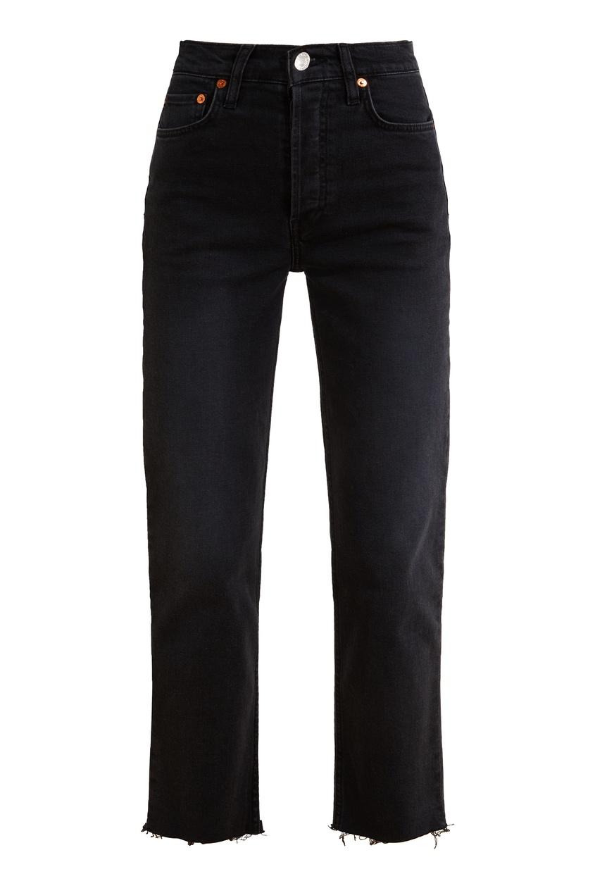 Черные укороченные джинсы