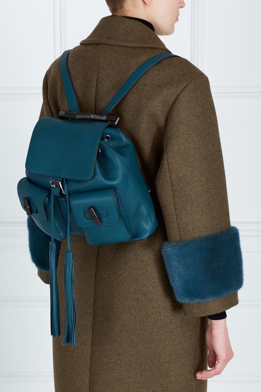 Кожаный рюкзак Bamboo Leather Backpack