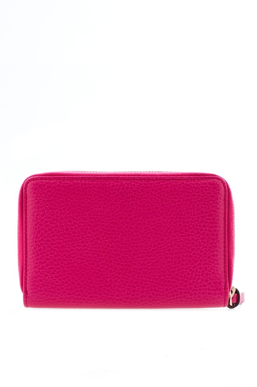 Фото 5 - Кожаный кошелек от Gucci красного цвета