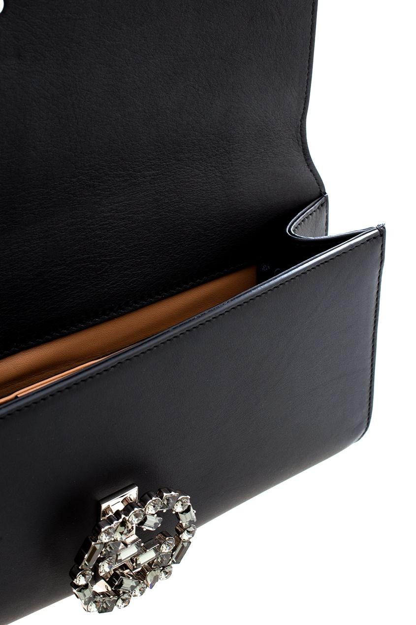 Фото - Кожаный клатч от Gucci цвет multicolor
