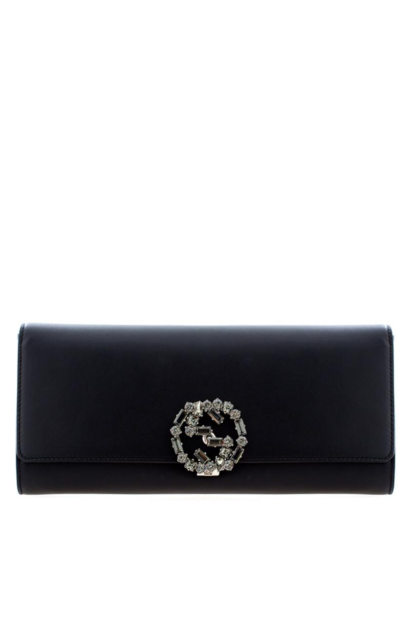 Фото 3 - Кожаный клатч от Gucci цвет multicolor