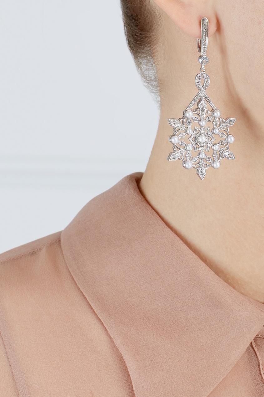 Axenoff Jewellery Серьги Снежинки купить ювелирные украшения в израиле