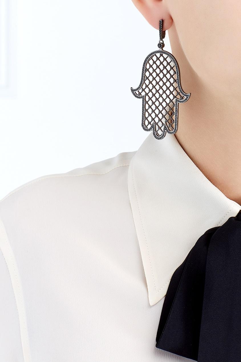 Axenoff Jewellery Серьги Калинка axenoff jewellery серебряные серьги щелкунчик с голубыми топазами и гранатами