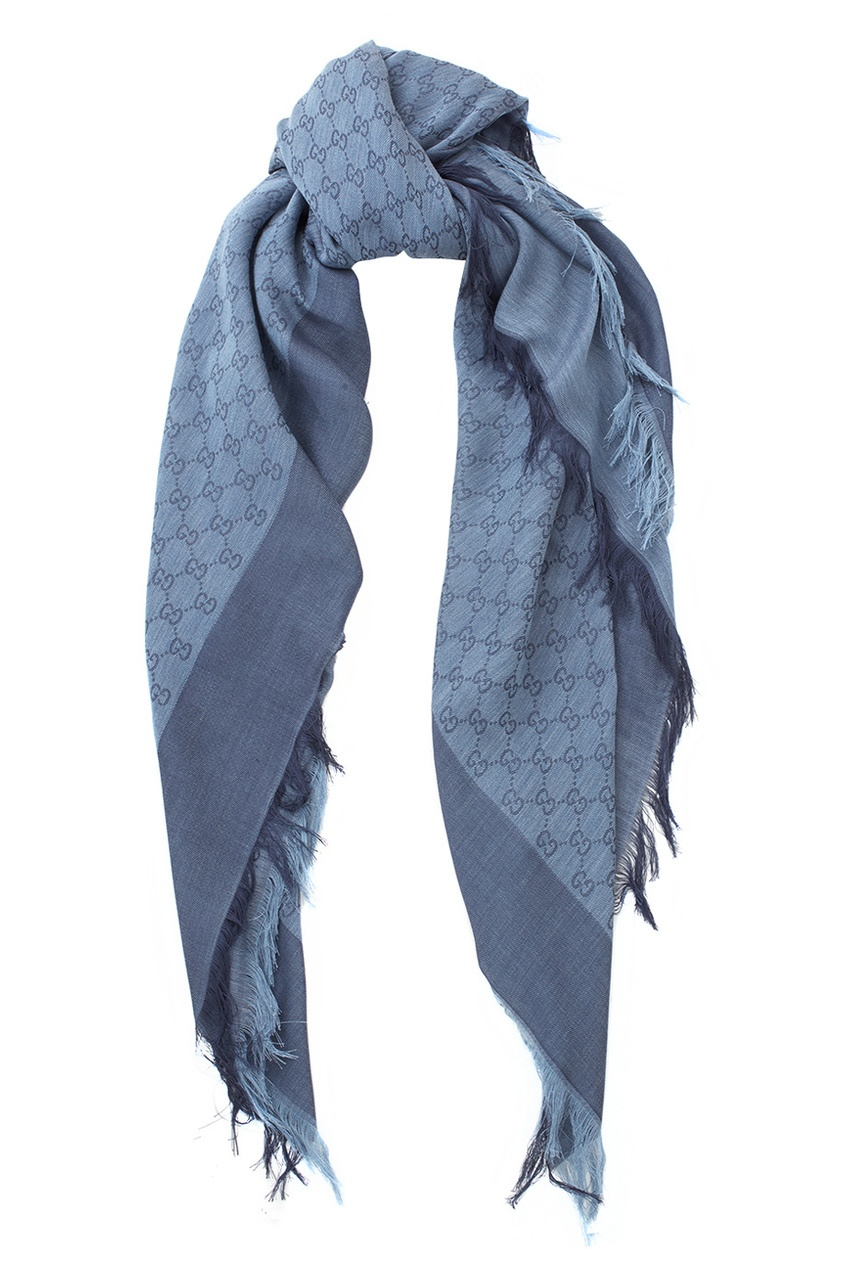 Шаль Silk wool GG jacquard shawl