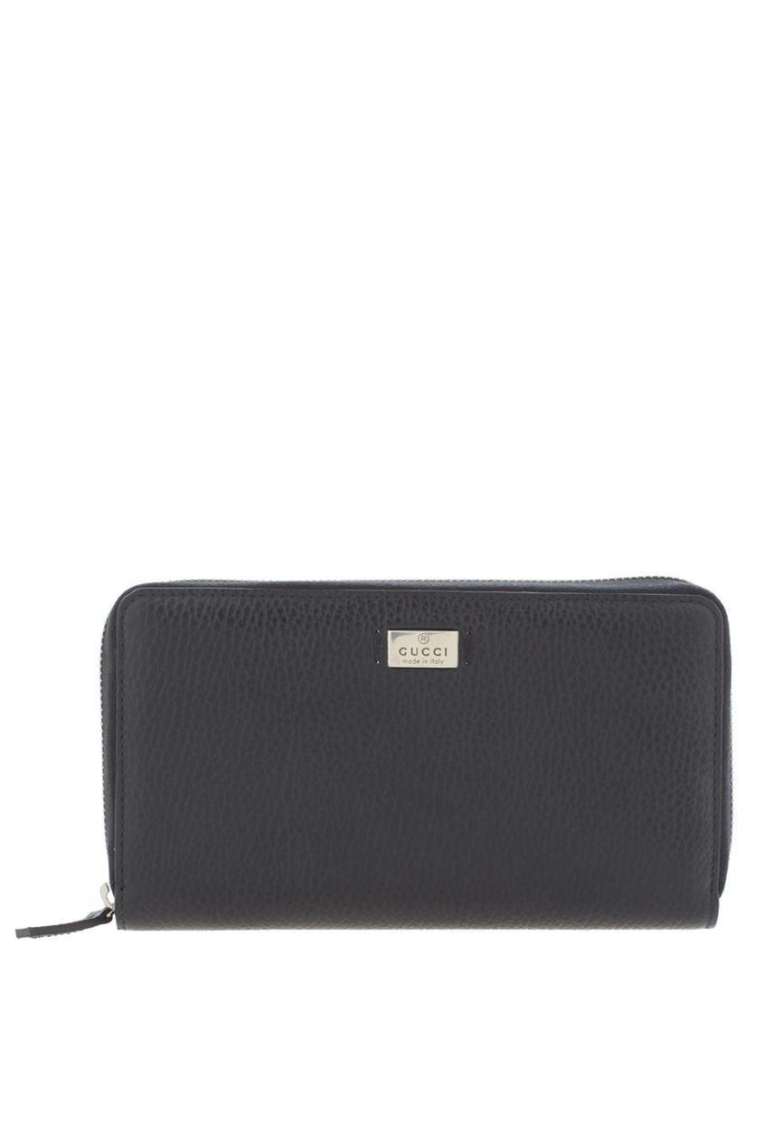 Фото 3 - Кожаный кошелек от Gucci черного цвета