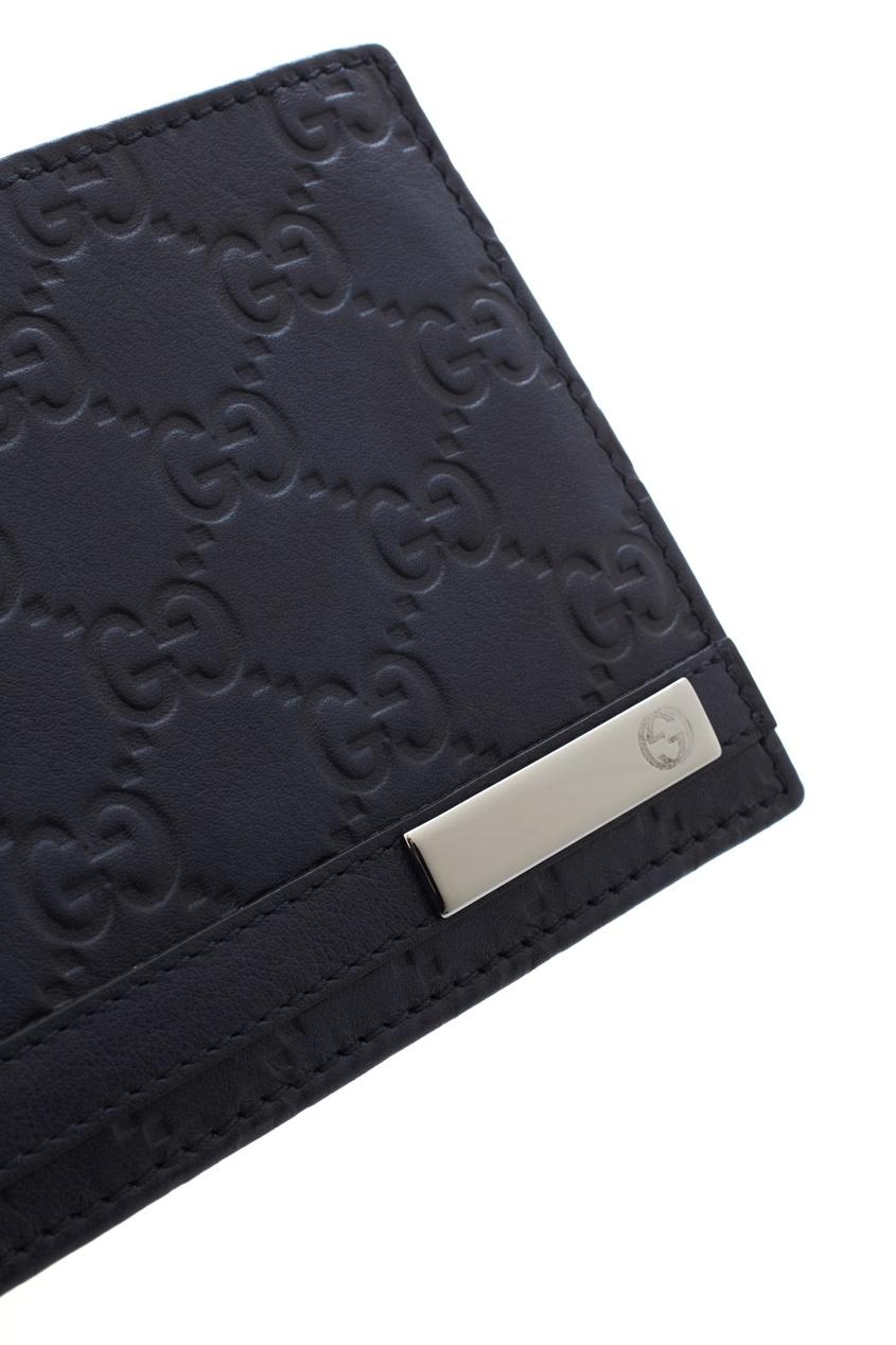 Фото 4 - Кожаный кошелек от Gucci синего цвета