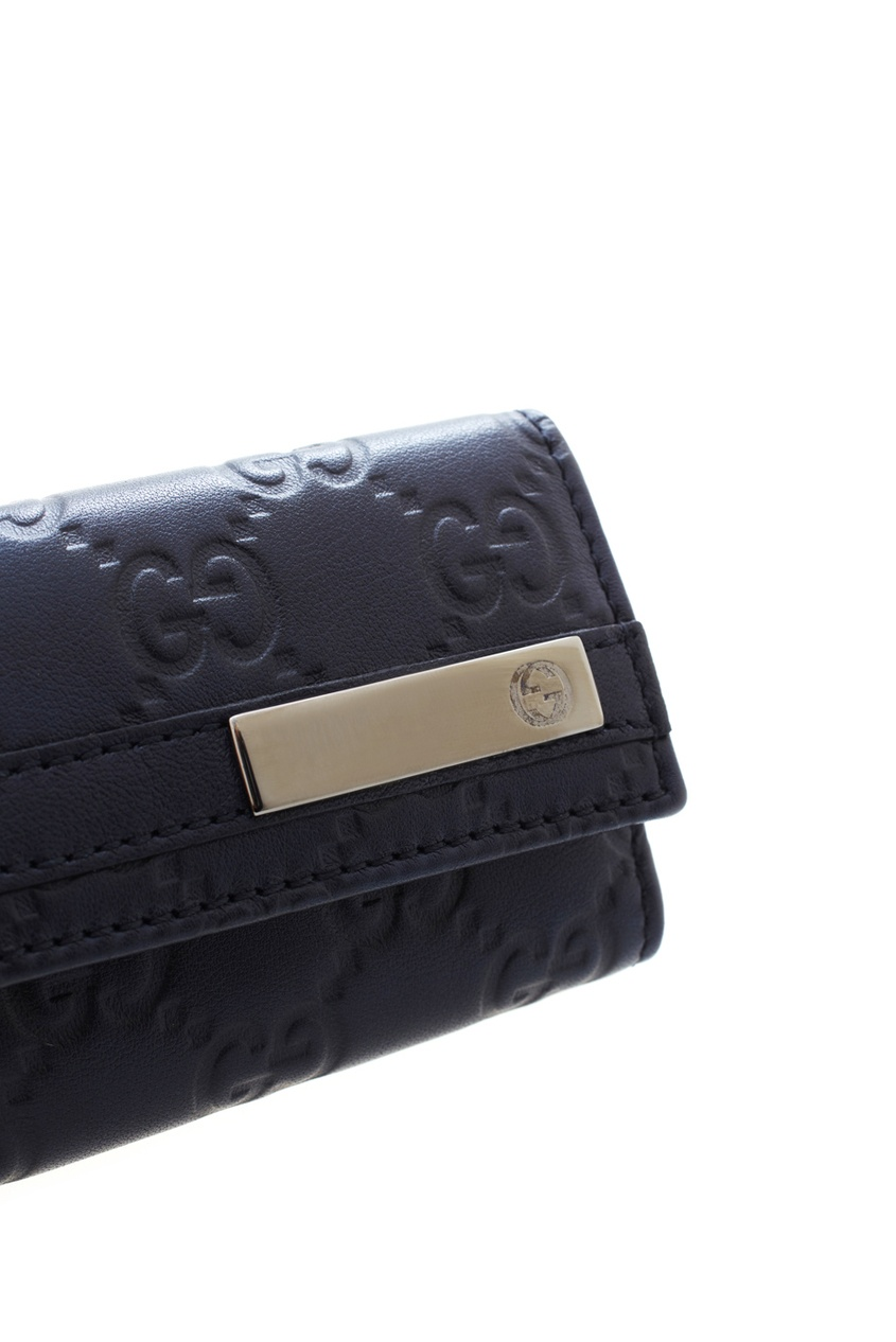 Фото 4 - Кожаная ключница от Gucci черного цвета
