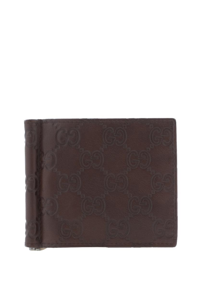Фото - Зажим для купюр от Gucci коричневого цвета