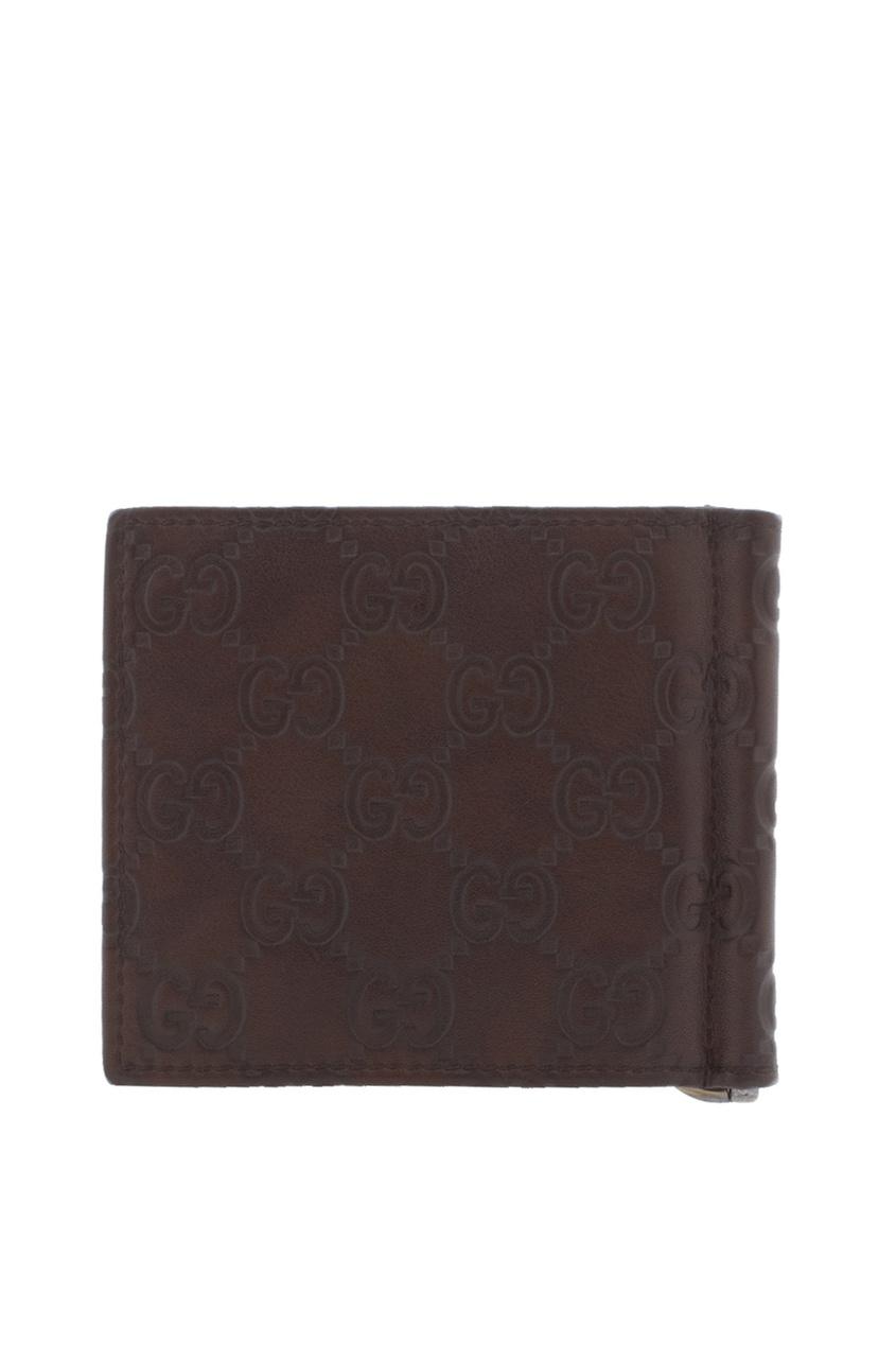 Фото 2 - Зажим для купюр от Gucci коричневого цвета